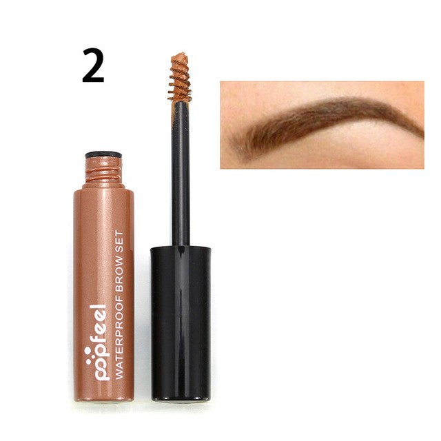 POPFEEL Brown Eyebrow Dyed Cream Enhancer Gel Eye Makeup Colored Black Coffee Waterproof 4 Colors