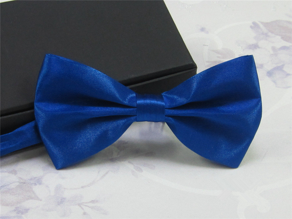 Men Bride Groom Bowtie Wedding Tuxedo Necktie Pure Color Polyester Adjustable Bow Tie