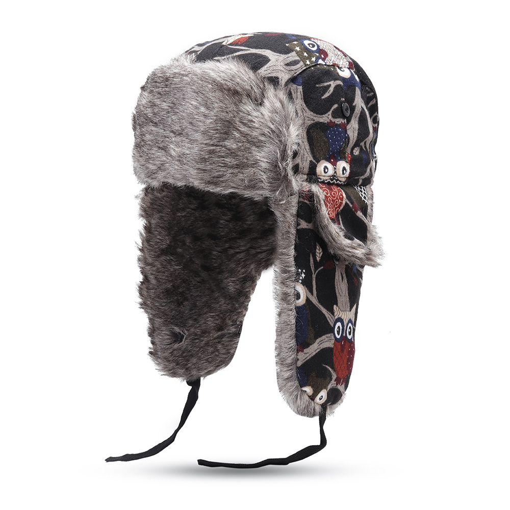 Men Women Plus Velvet Hunting Hat Ushanka Trapper Hat