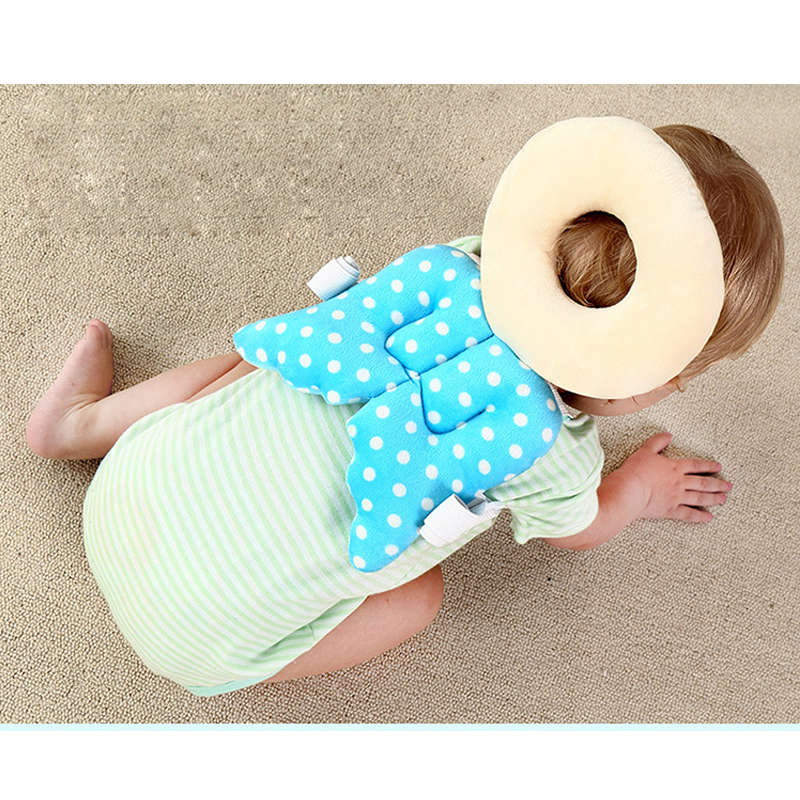 Toddler Head Rest Pillow Baby Head Protection Pad Neck Cute Wings Nursing Drop Resistance Cushion