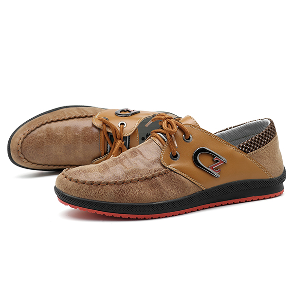 Men Casual Business Soft Sole Suede Colth Lace Up Oxfords