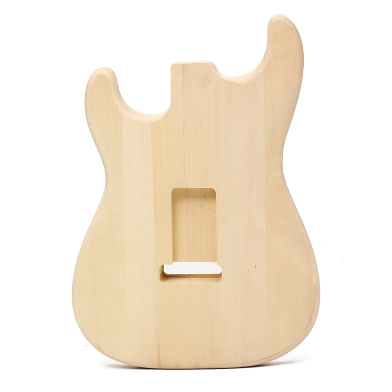 DIY Electric Basswood Wood Guitar Body with Accessories Set Unfinished Kit for ST Style