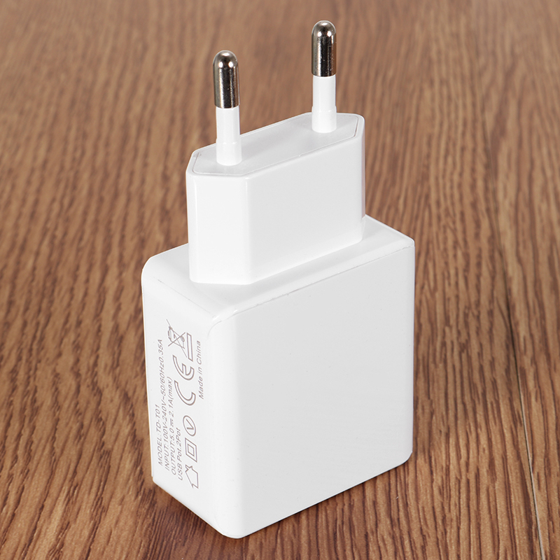Bakeey 2.1A 2Ports EU Plug Fast Charging Travel Wall USB Charger For iPhone X 8/8plus Samsung S8