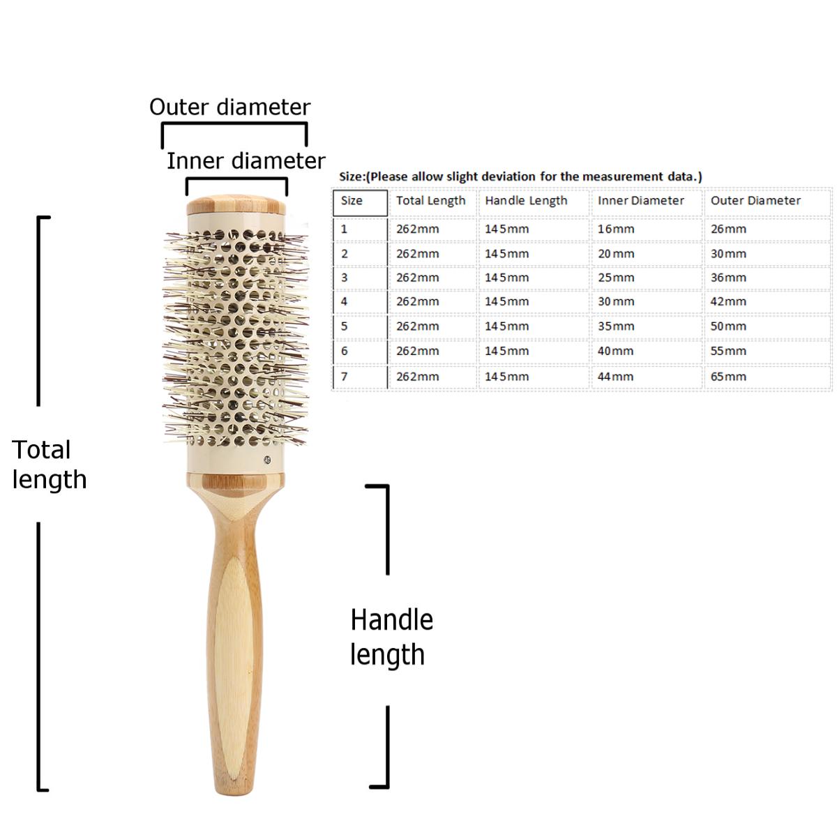 7 Pro Round Brush Curly Hair Roller Brush