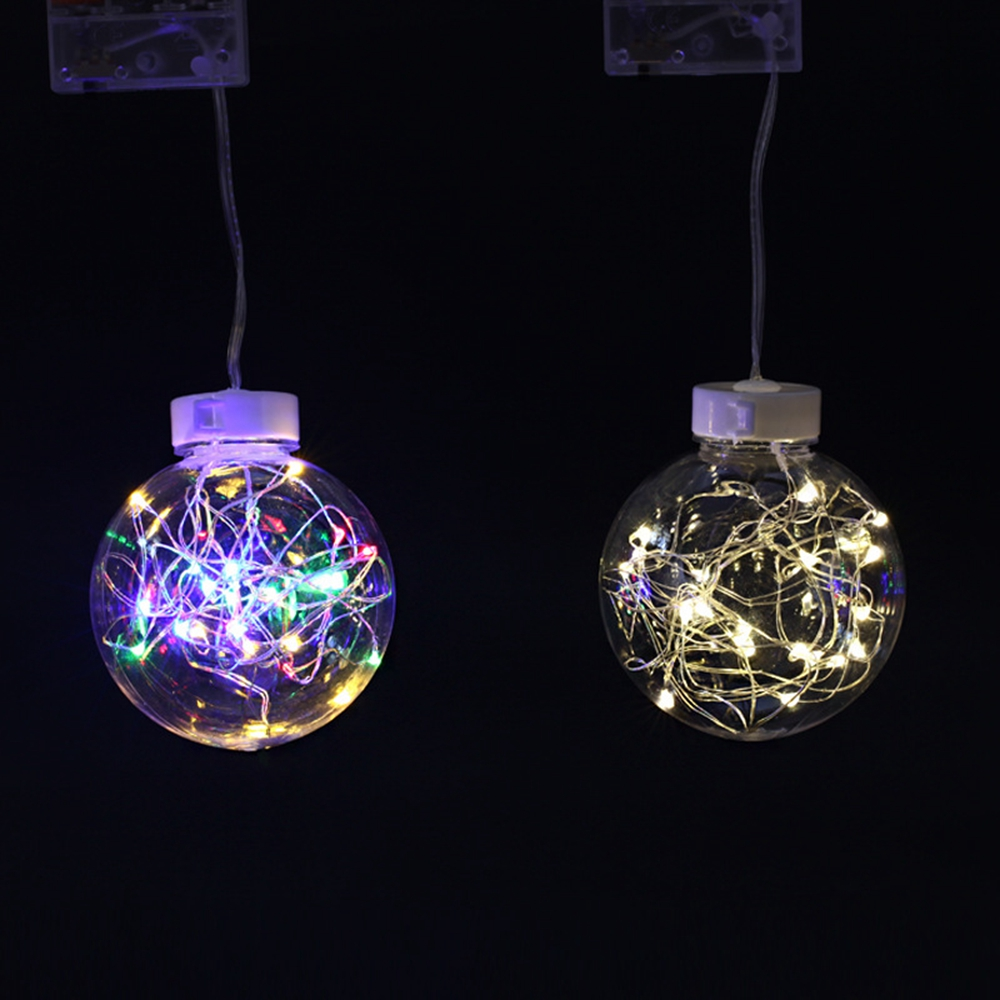 Battery Powered 10/20 Wishing Ball LED Hanging String Light for Holiday Festival Christmas