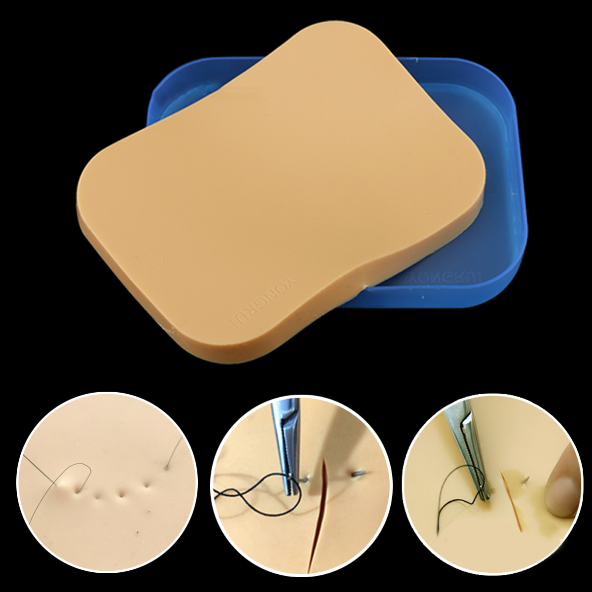 Medical Suture Training Skin Model Pad Repeated Practice Single Layer for Students Nurse Doctor