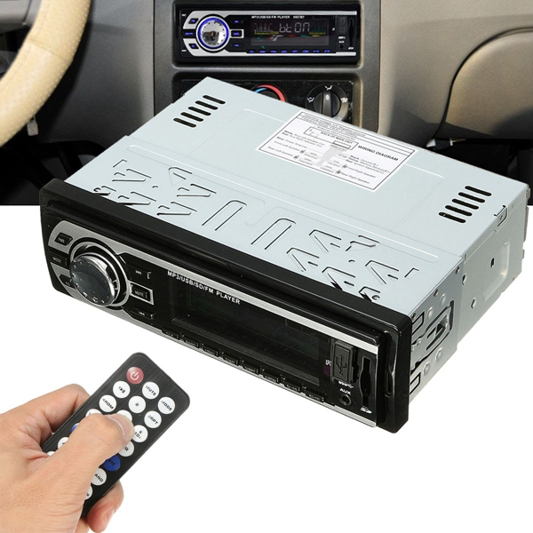 Auto Car Stereo MP3 Radio Audio Player In Dash FM Transimittervs Aux Input Receiver SD USB