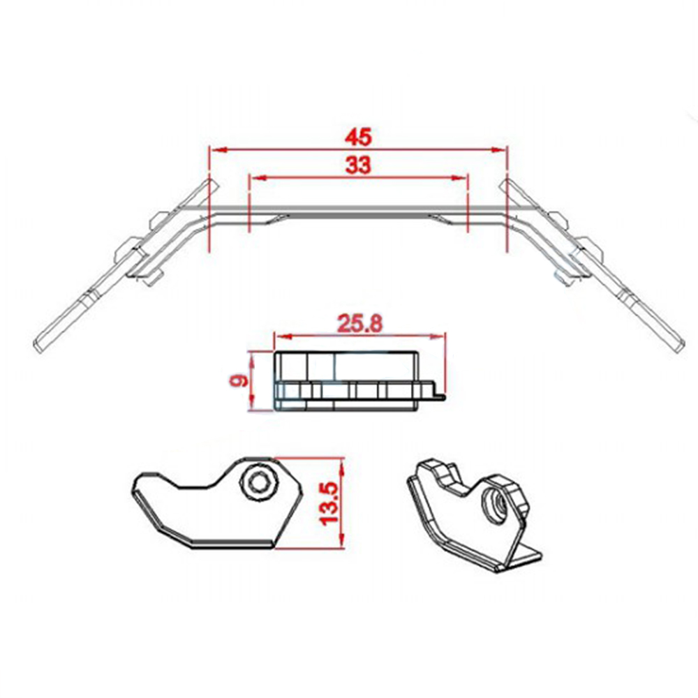 Tarot RC Helicopter Parts Metal Landing Skid For SAB 380 ALZRC 380
