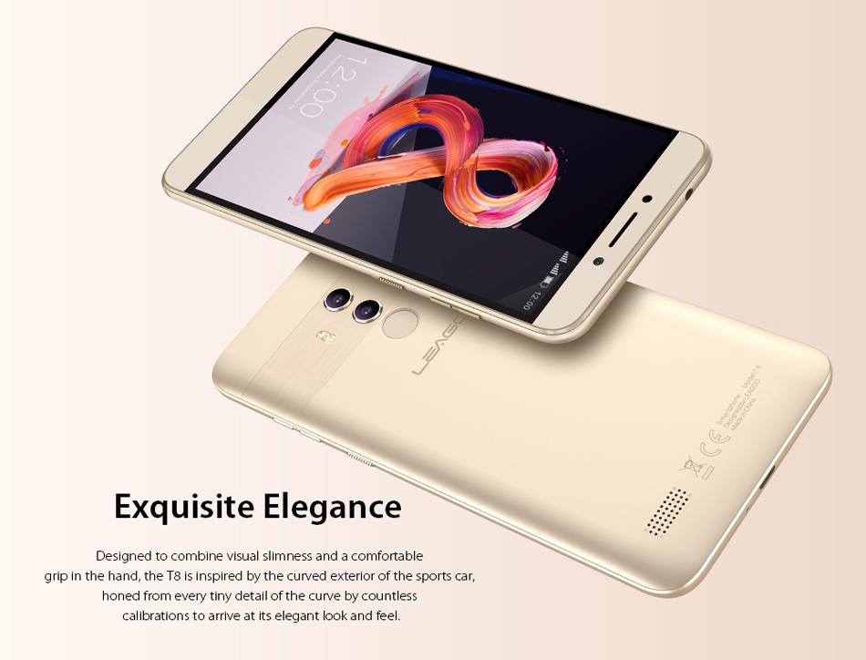 LEAGOO T8 5.5 Inch FHD+ Android 8.1 3080mAh 2GB RAM 16GB ROM MT6750T Octa Core 4G Smartphone