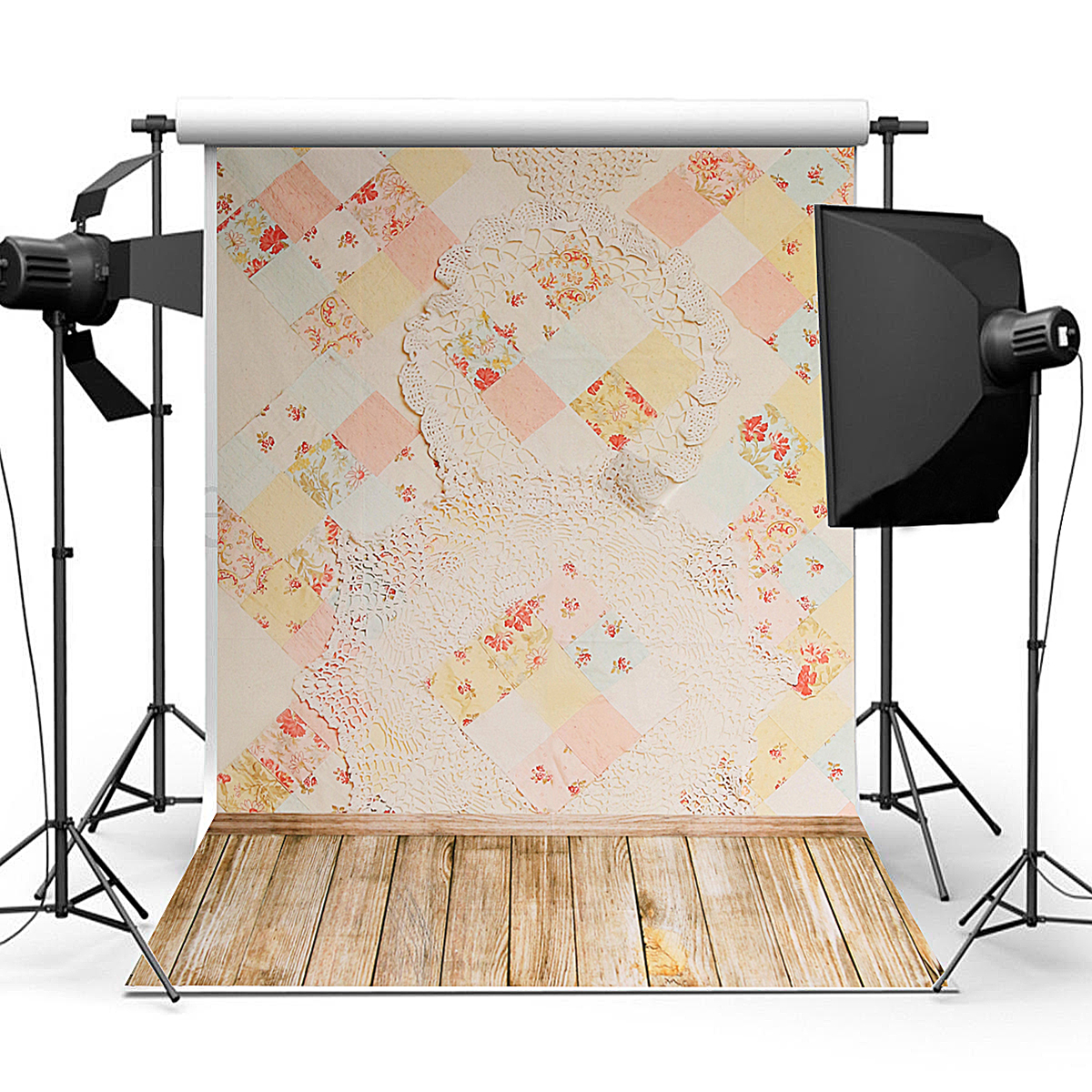 90x150cm Photography Vinyl Background Blanket Wall Plank Baby Theme