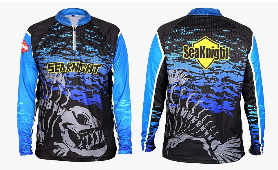 SEAKNIGHT SK006 Fishing Clothing Long Sleeve Summer Quick Drying Breathable Anti-UV T-Shirt