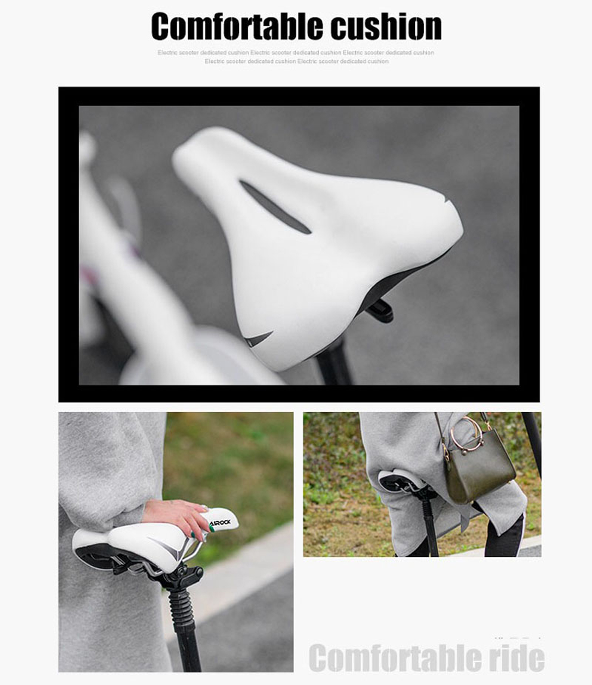 BIKIGHT Upgraded Version Seats for Xiaomi M365 Electric Scooter Skateboard Saddle Foldable Cushion Chair