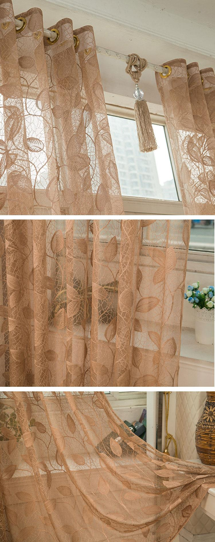 2 Panel Breathable Half Black-out Voile Sheer Curtains Bedroom Living Room Window Screening