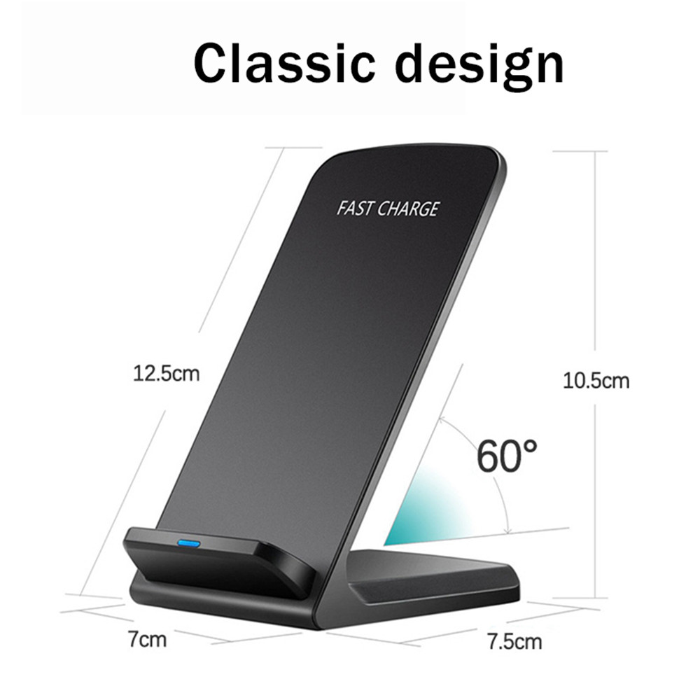 10W QI Wireless Charger Fast Charging Pad Docking Dock for Samsung S8 Plus Galaxy Note 8 S7 S6 Edge
