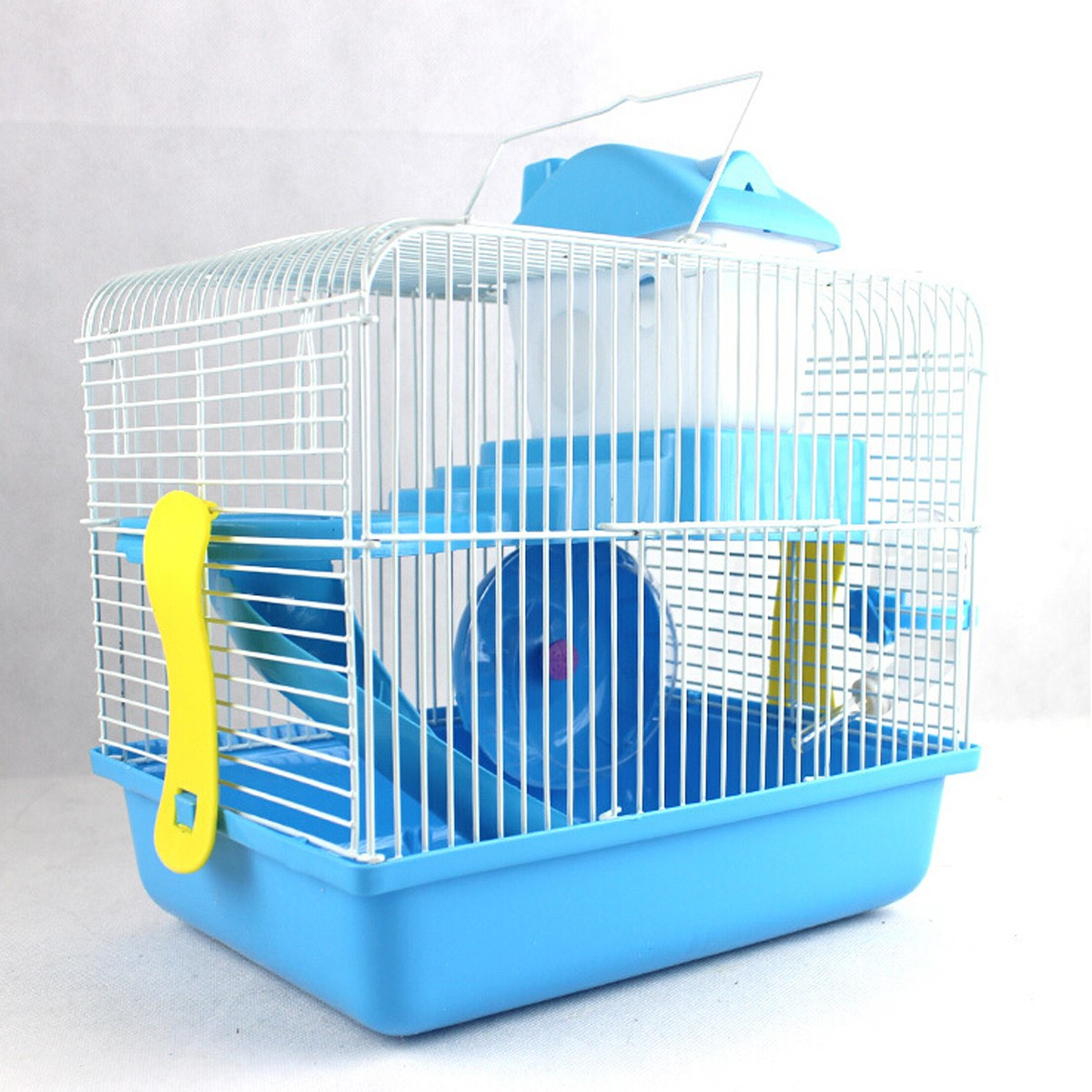 2 Floor Storey Hamster Mouse Cage House Play Slide Spin