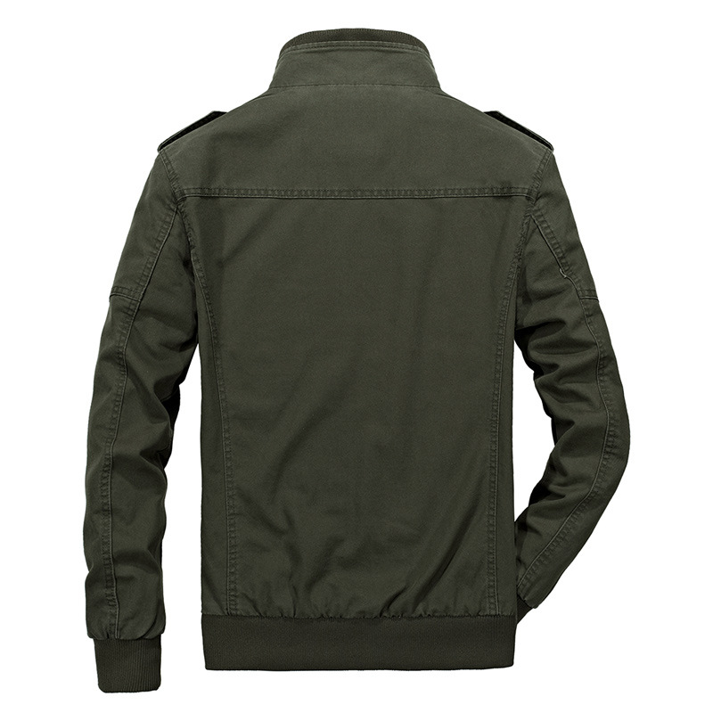 Military Style Epaulet Plus Size S-4XL Cotton Autumn Jacket