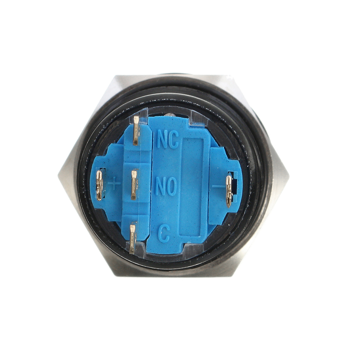 19mm 12V 5 Pin Led Light Metal Push Button Momentary Switch