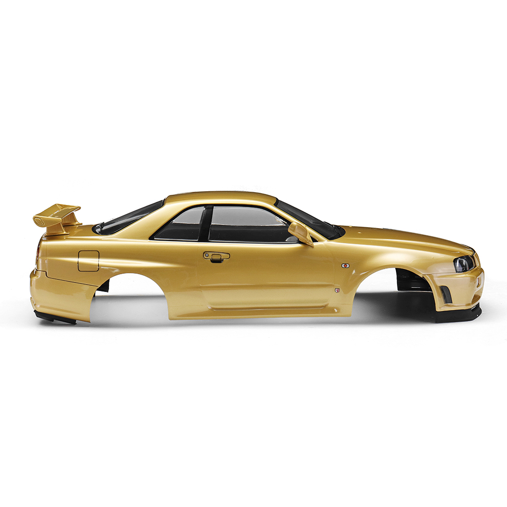 Killerbody 48645 NISSAN SKYLINE (R34) Finished Body Shell Champaign-gold for 1/10 Touring Car - Photo: 3