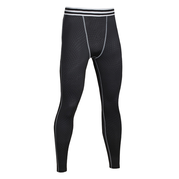 Mens Fitness Elastic Tights Compression Training Pants Quick Drying Running Sport Trousers