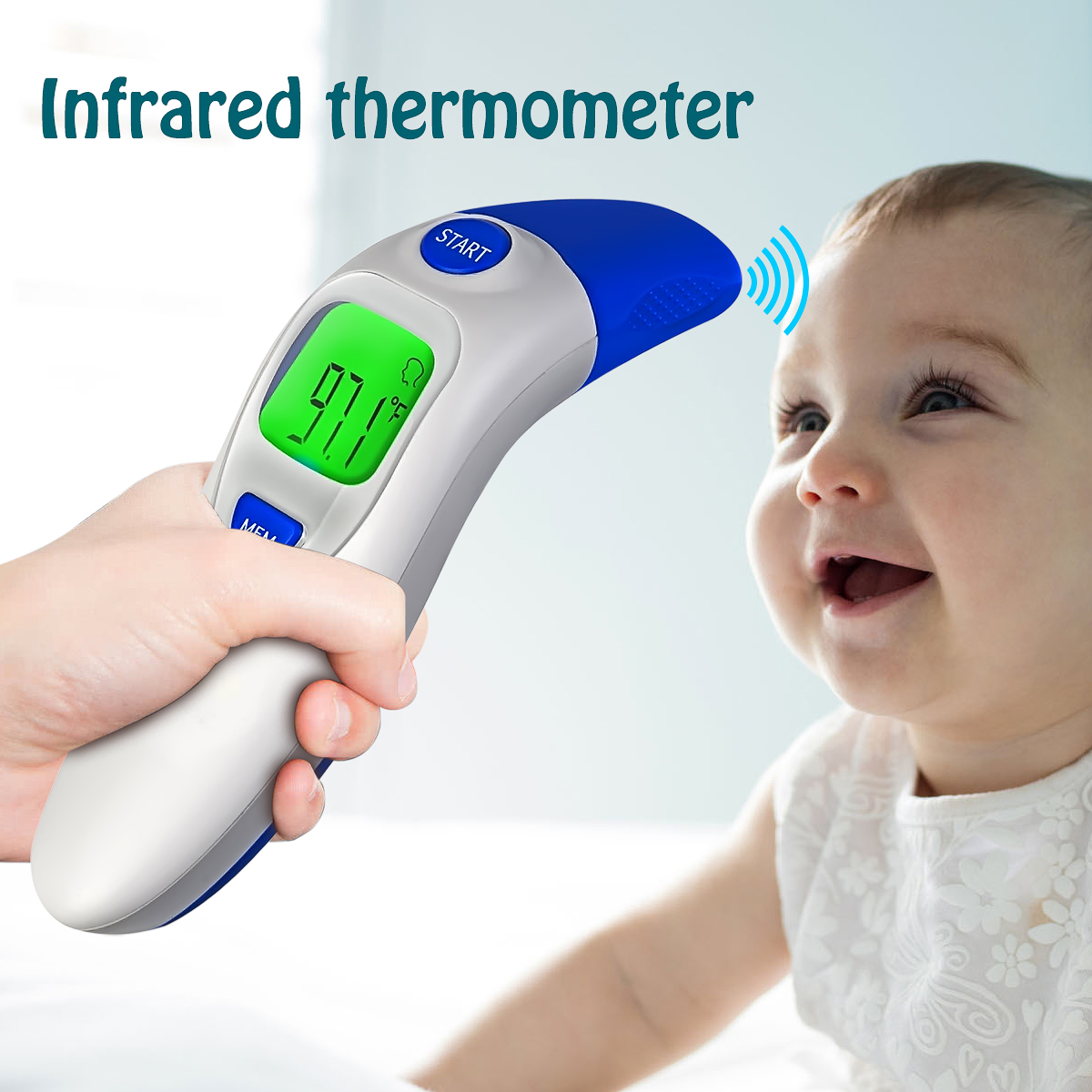 Digital Baby Adult Body Temperature Tester Portable Infrared IR Ear Thermometer /