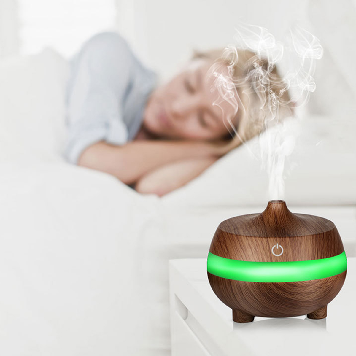 7 Soothing LED Light Ultrasonic Aroma Diffuser Essential Oil Humidifier Air Aromatherapy Purifier