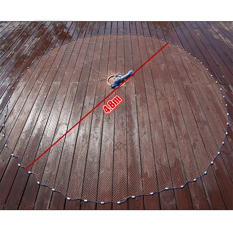 ZANLURE 4.8m American Style Brown Cast Network Saltwater Bait Casting Strong Nylon Line With Sinker