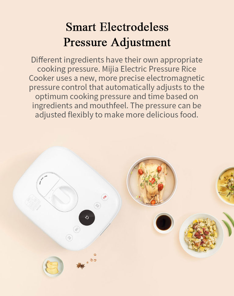 XIAOMI Mijia YLG01CM Electric Rice Cooker Smart Home 5L Alloy Cast Iron Heating Pressure Cooker Multicooker Kitchen