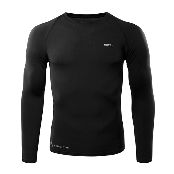 Mens Training High Elastic Quick Drying Breathable Sports Fitness Running Tight Long Sleeve T-shirt