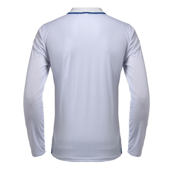 Mens Solid Color Polo Shirt Slim Fit Long-Sleeve Shirt Fashion Casual Shirts