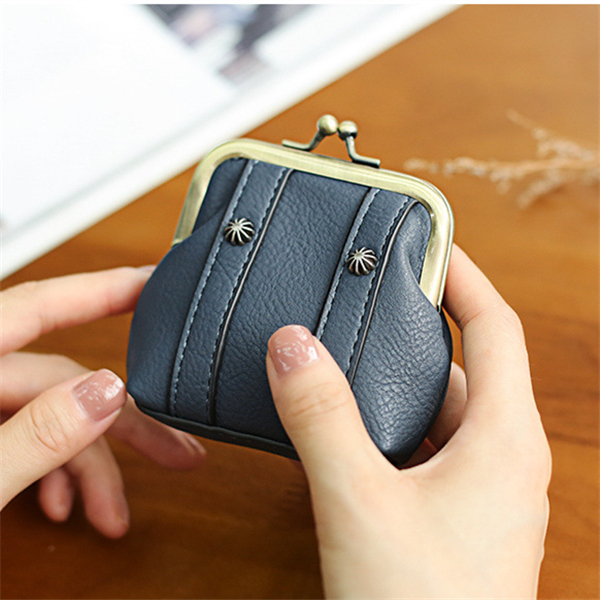 Women Mini Shell Lovely Hasp PU Leather Coin Bags Change Wallet