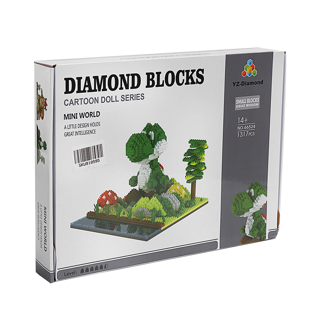 YZ Diamond Blocks Toys Mini World Cartoon Model 1317PCS Building Block
