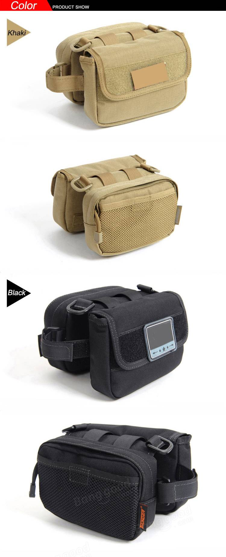 Bicycle Front Frame Tube Bag Saddle Pack Pouch Shoulder Bag Camo Pannier For Cycling