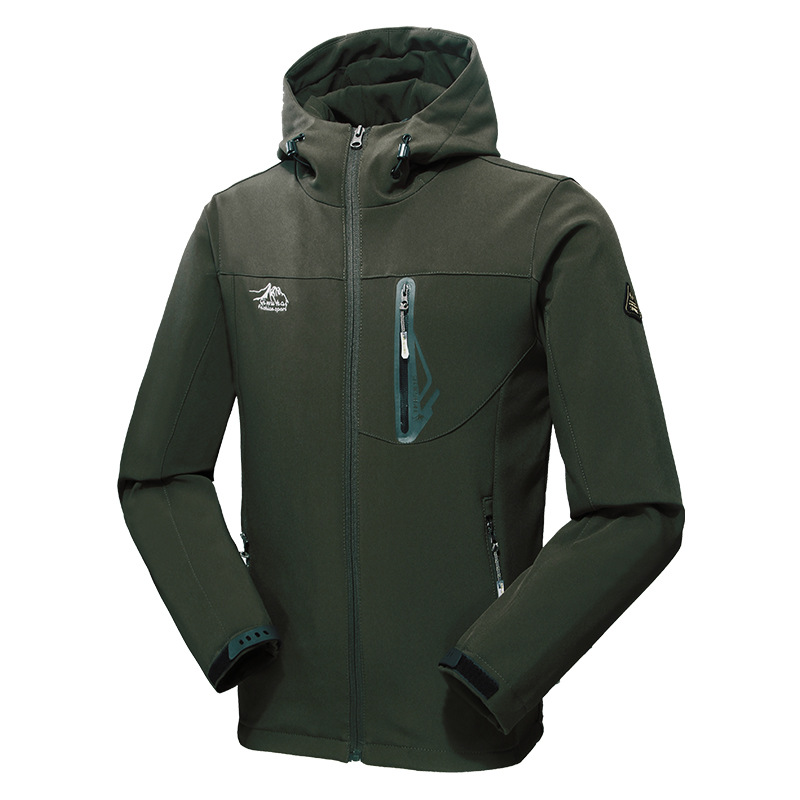 Men's Outdoor 100% Polyester Breathable Waterproof Jacket