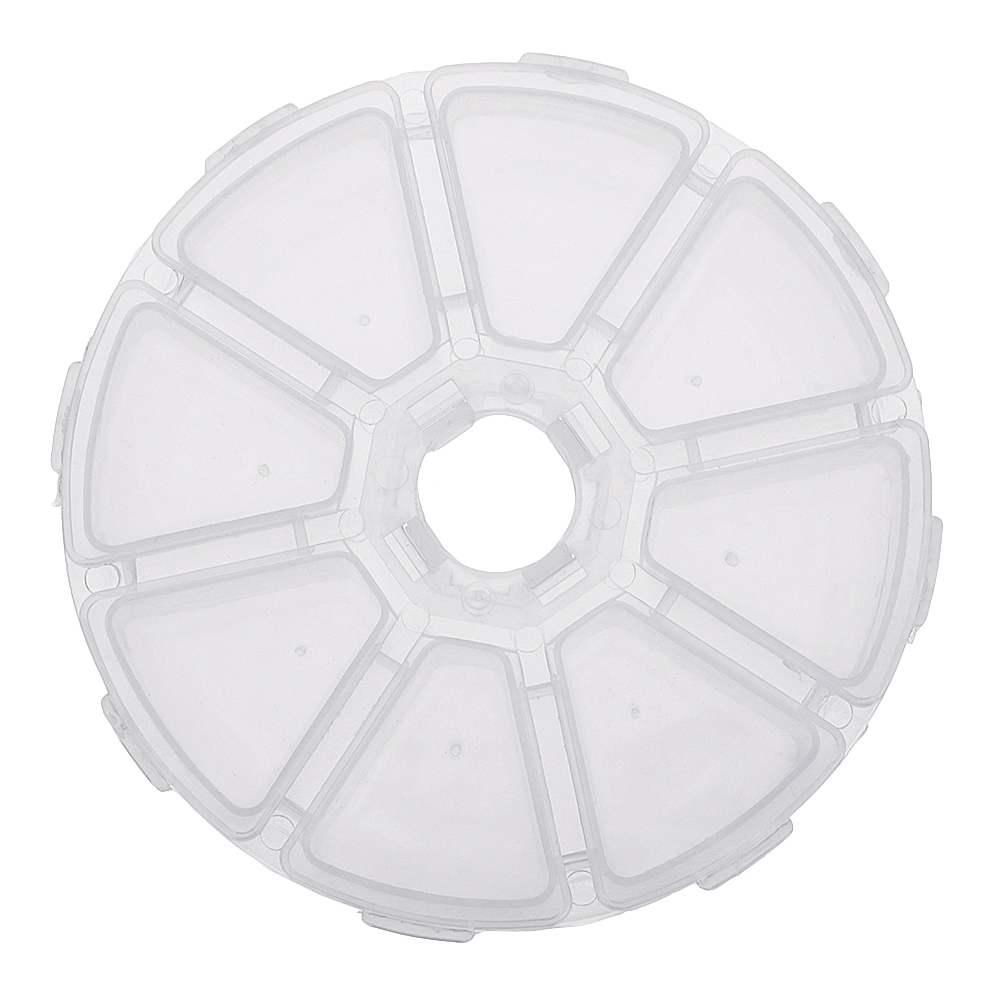 Round 8 Compartment Box 10cm Clear Bead DIY Craft Jewelry Parts Storage Organizer Container Case
