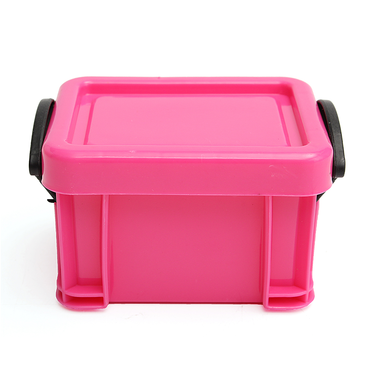 9Pcs Mini Multicolored Storage Boxes Management Plastic Container Organizer with Lid 6.5x5x4.8cm