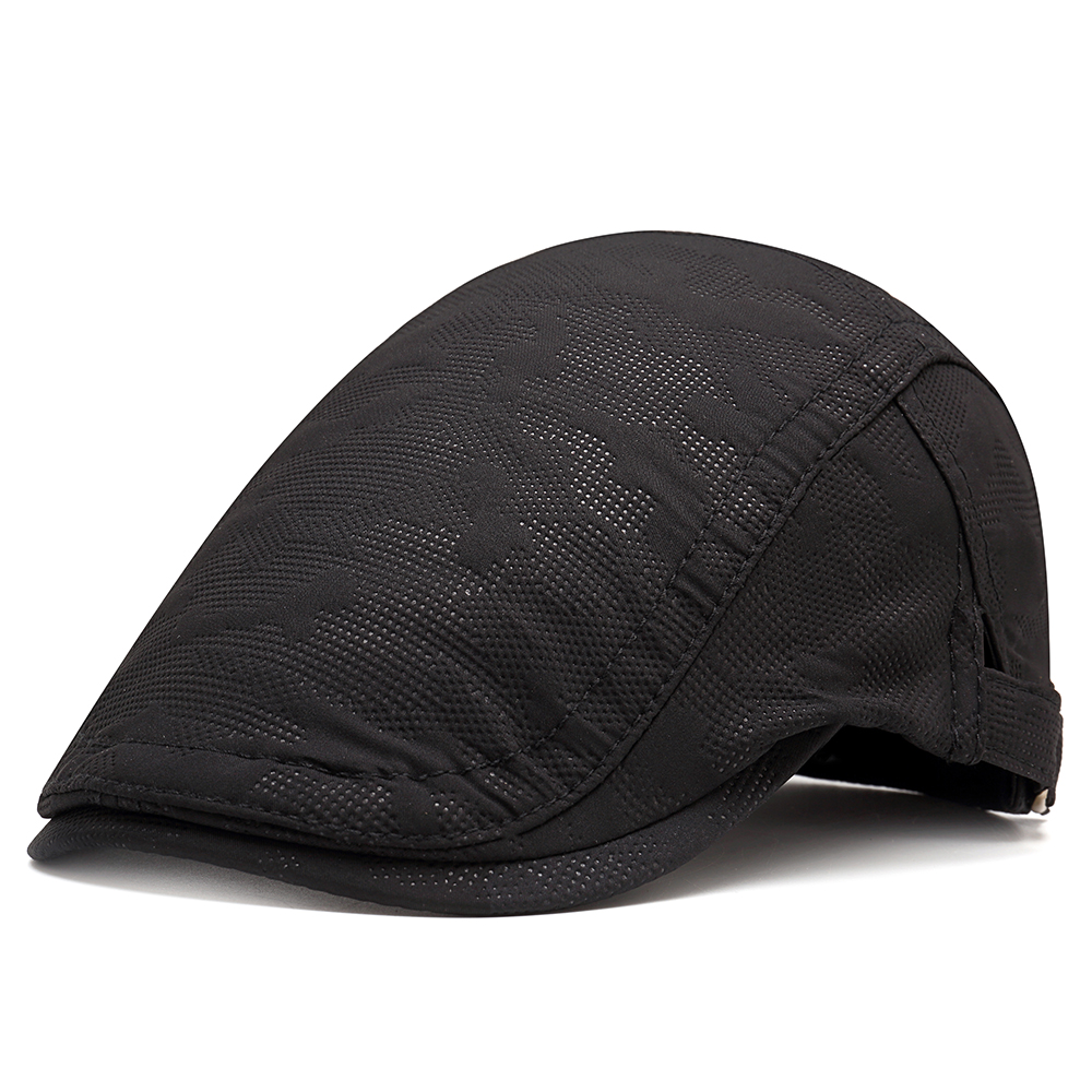 Mens Casual Cotton Double-breasted Beret Hat Painter Caps