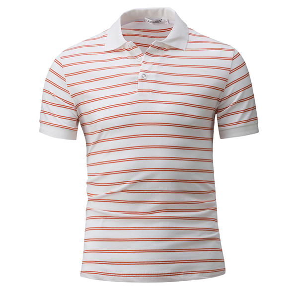 Stripe Hit Color T-shirt Men's Casual Short-Sleeved T-shirt
