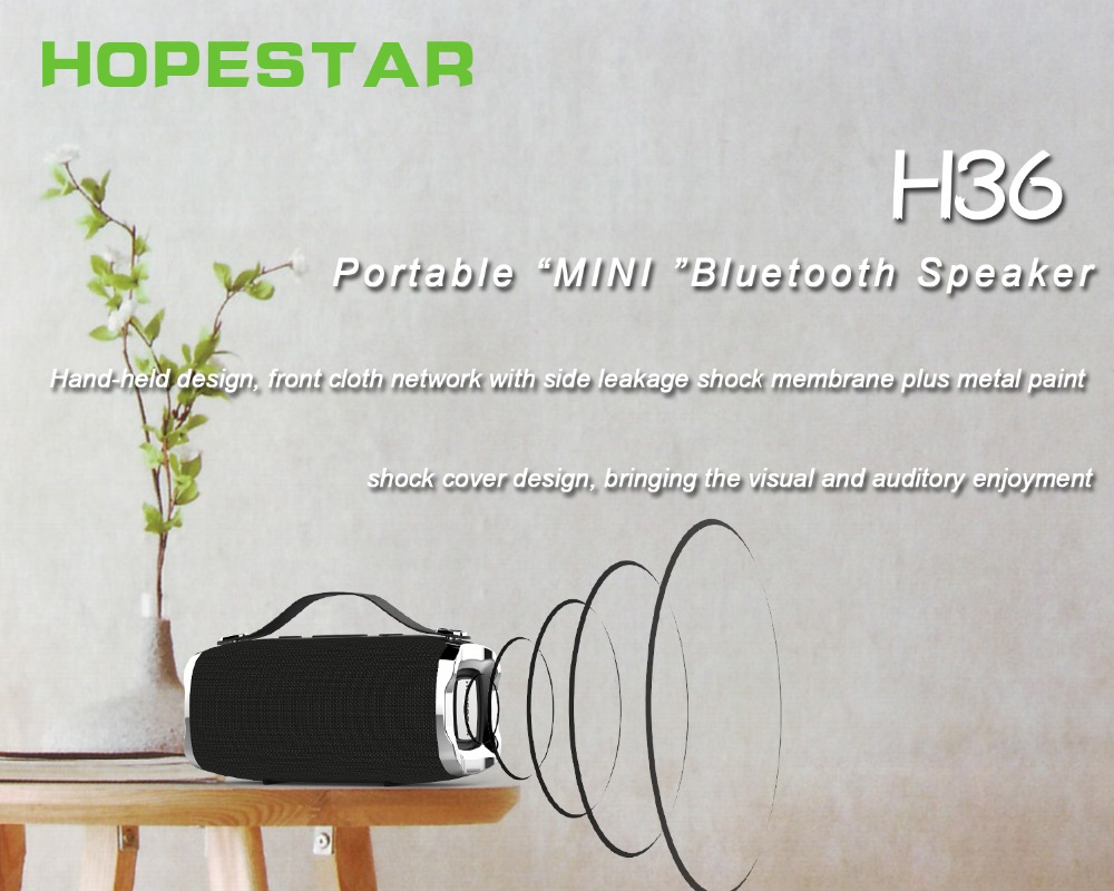 Hopestar H36 Portable bluetooth Speaker Dual Units IPX6 Waterproof TF Card FM Radio Bass Speaker