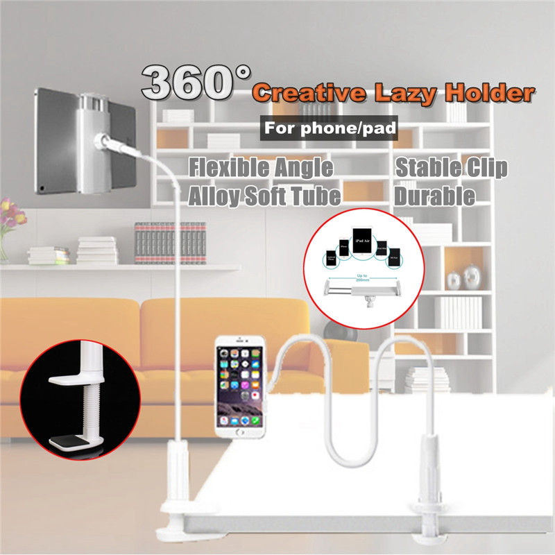 Universal Foldable Long Arm 360 Degree Rotation Desktop Phone Stand Lazy Holder for Mobile Phone