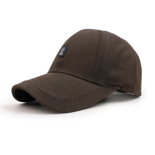 Men Solid Cotton Baseball Cap Casual Outdoor Sport Sunshade Visor Snapback Hat