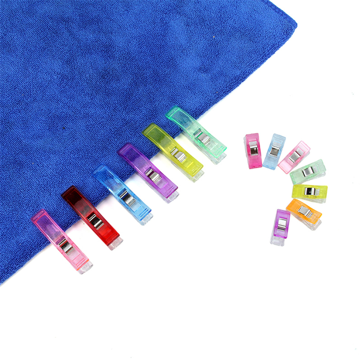 100Pcs Plastic Clips Clamp Craft Holder Cloth Hanger for Sewing Filling Quilt Patchwork