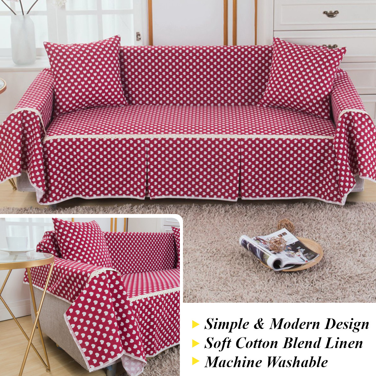 Sofa Covers Couch Slipcover Cotton