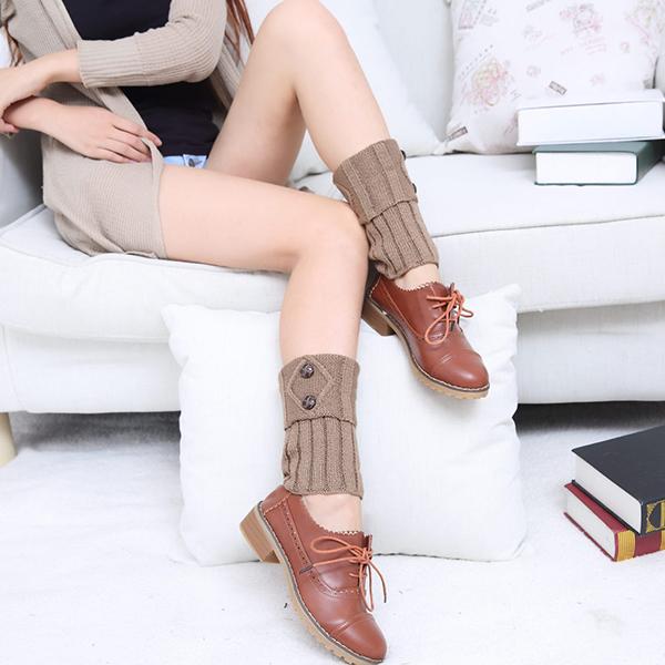Botón de mujer para tejer pun ¢ o de bota Tops de ganchillo ...