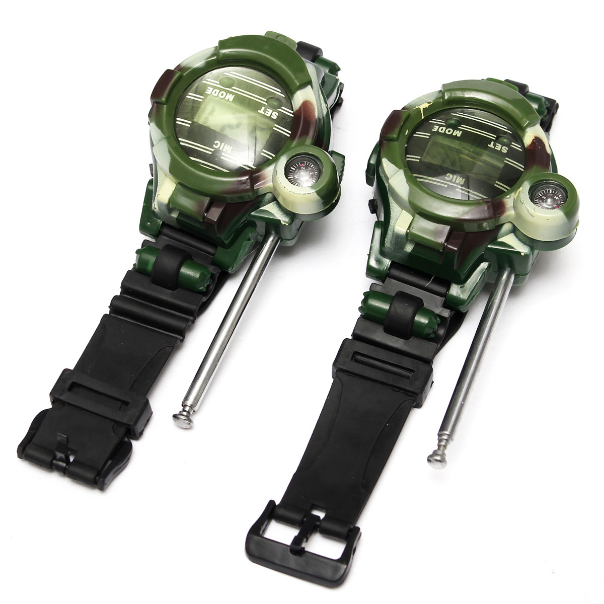 2Pcs 7 in 1 Children Walkie Talkie Child Kids Watches Outdoor Game Interphone