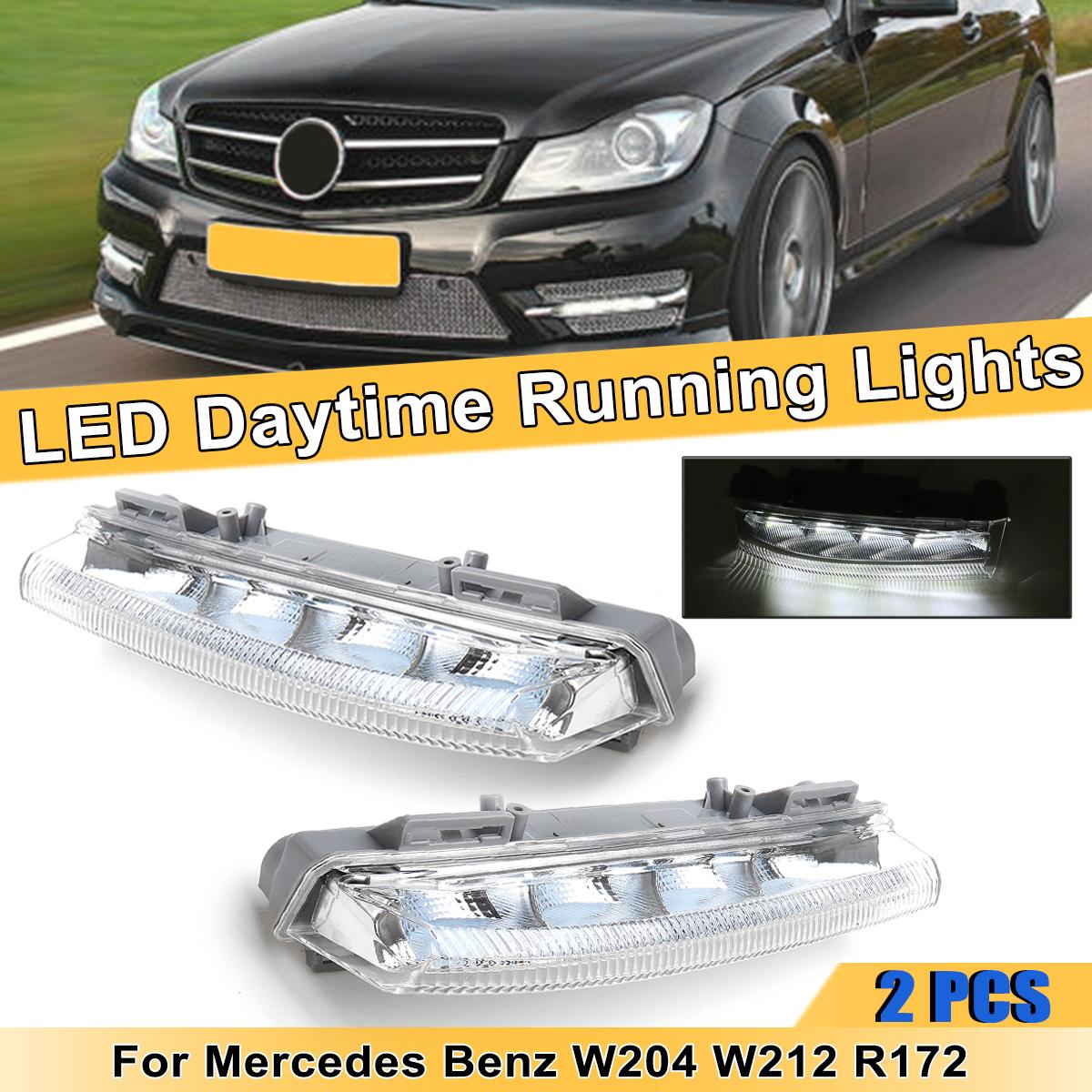 12V Car LED DRL Daytime Running Lights Fog Lamp for Mercedes for Benz W204 W212 R172