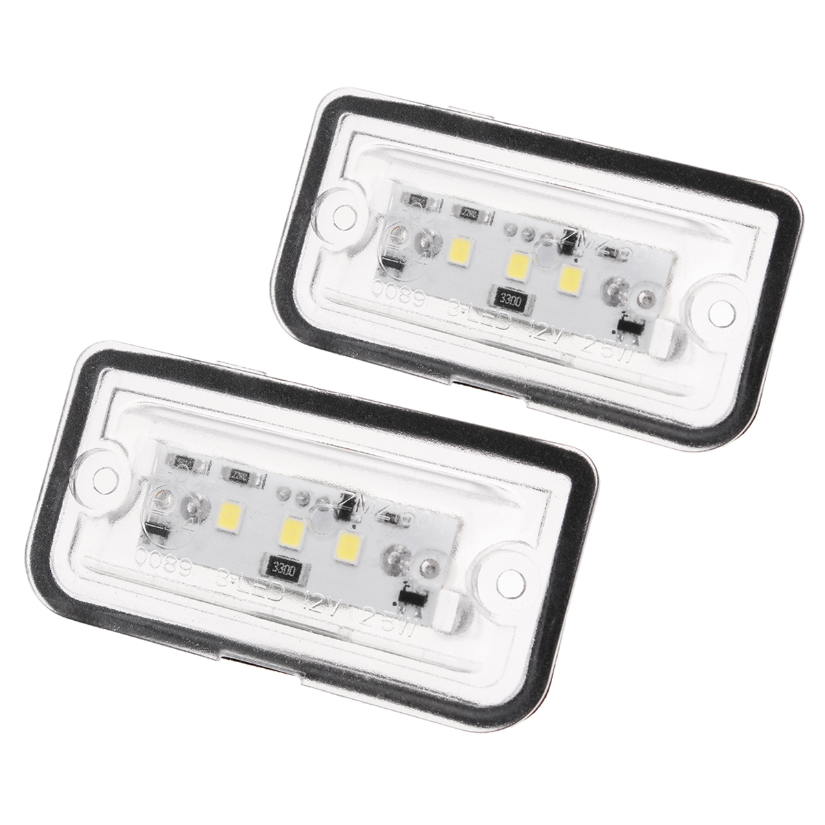 2Pcs 3SMD LED License Plate Lights for Mercedes CLK280