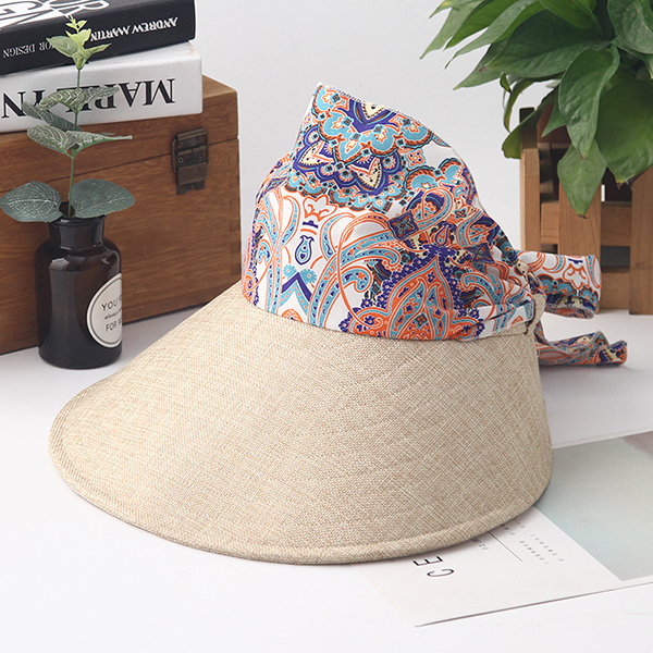 Women Summer Foldable Wide Brim Anti-UV Sun Bucket Hat