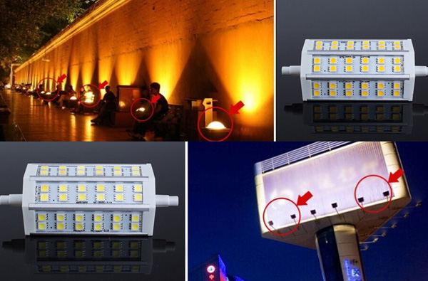 R7S Dimmable 118MM LED Bulb 8W 36 SMD 5050 White/Warmwhite Flood Light Corn Lamp AC85-265V