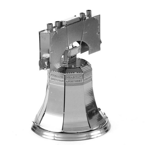 Aipin DIY 3D Puzzle Stainless Steel Model Kit Liberty Bell Silver Color