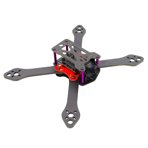 Realacc Martian III X Structure 4mm Arm 190mm 220mm 250mm Carbon Fiber Frame Kit w/ PDB for RC Drone